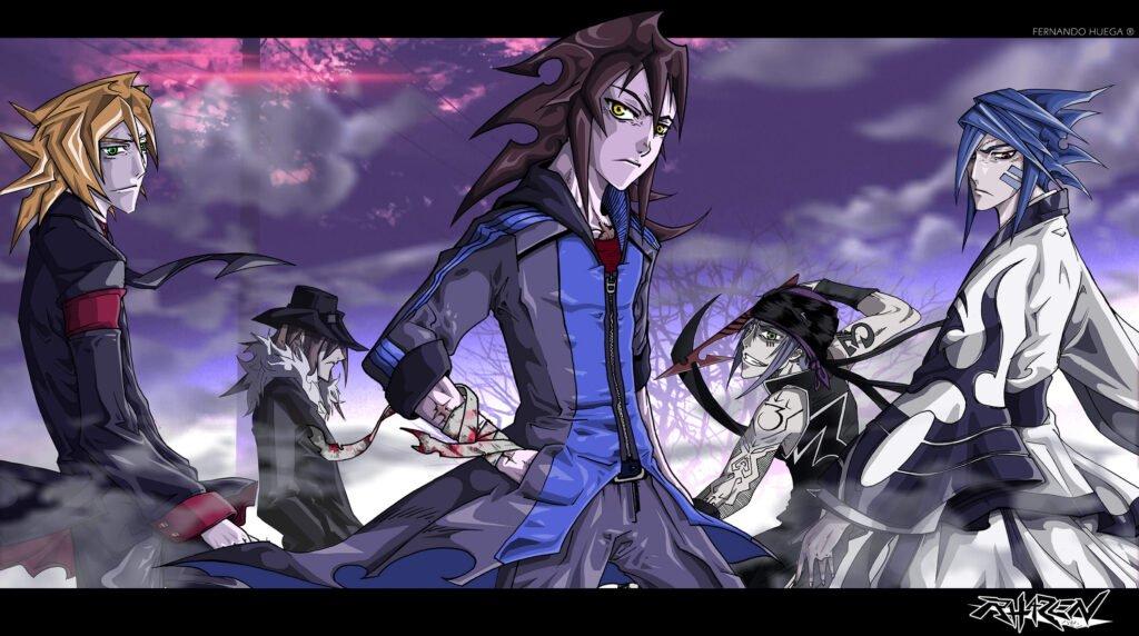 diversos personagens de rhazen com protagonista centralizado