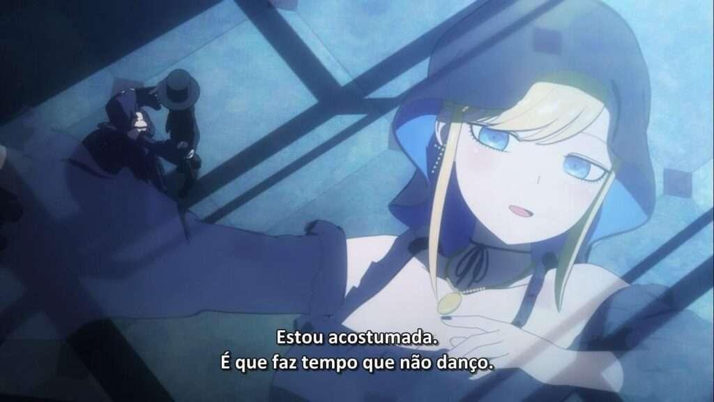 Alice e o Duque dançando em Shinigami Bocchan to Kuro Maid