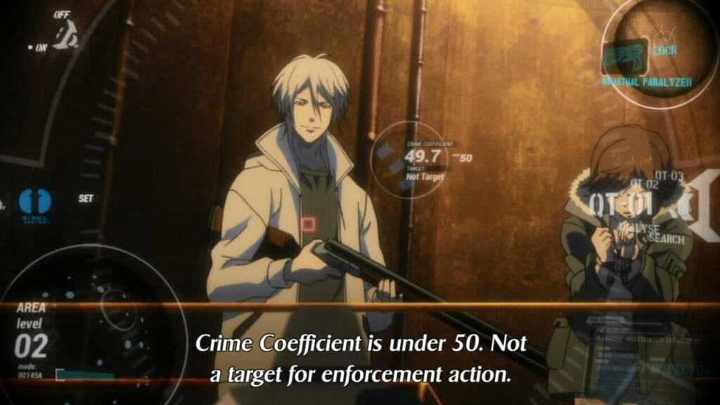 Avaliação do coeficiente criminal de Makishima Shougo