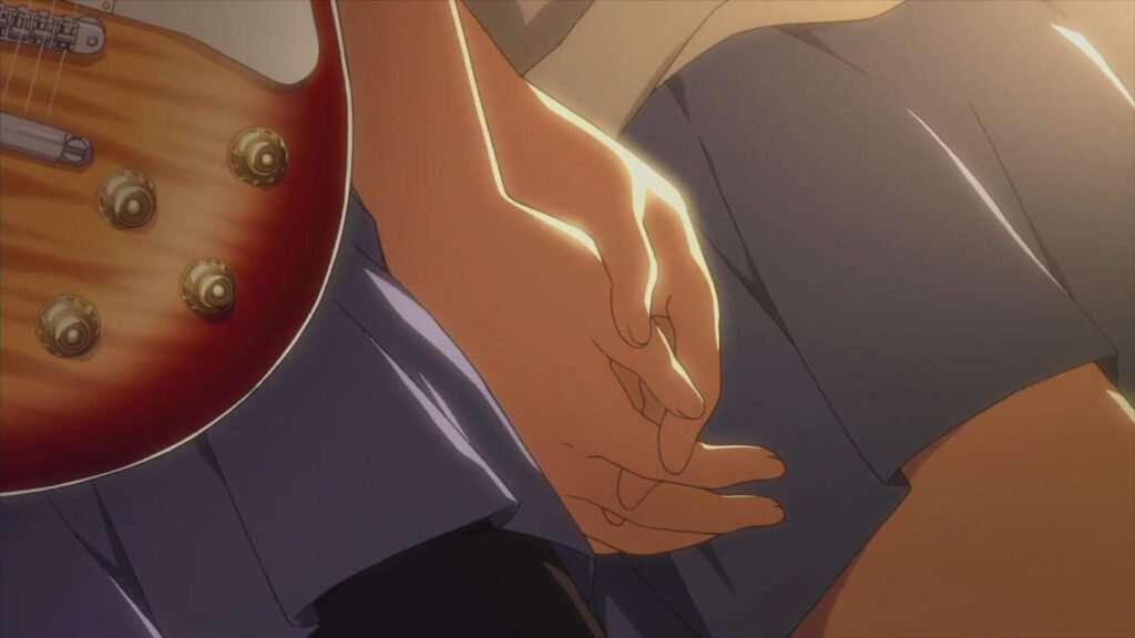 mãos juntas em k-on