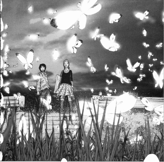 o momento lindo das borboletas no mangá