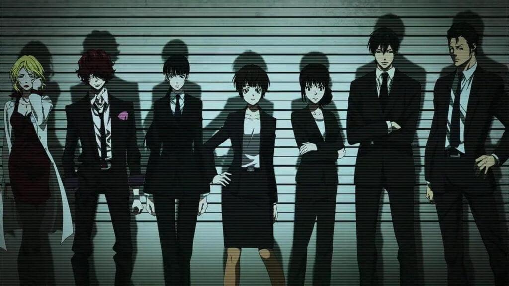 Imagem com os personagens principais da segunda temporada de Psycho-pass