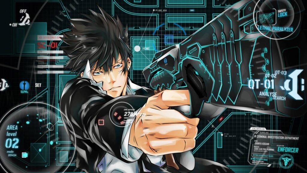 Imagem de Kougami Shinya usando a dominator