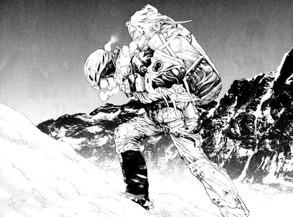 Mori Buntarou subindo uma montanha imaginária em Kokou no Hito