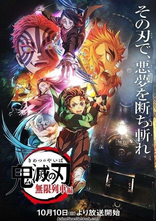 The Demon Slayer Kimetsu no Yaiba Mugen Train Arc TV visual oficial anime