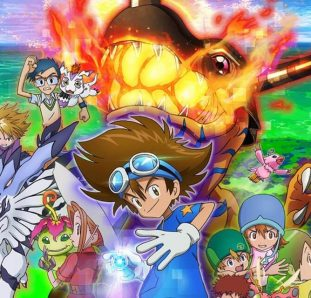 Digimon Adventure Greymon com fogo
