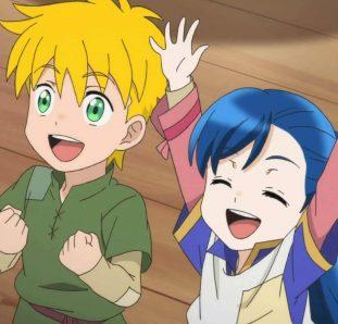 Honzuki no Gekokujou 2ª temporada Myne e seu coleguinha