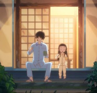 Kakushigoto pai e filha na varanda