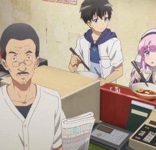 Kamisama ni Natta hi personagens comendo
