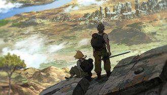 crítica deca denca - Os 2 personagens aparecem olhando para o horizonte do universo de deca-dence