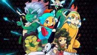 capa com o tema de monstros da cultura local do silent manga audition