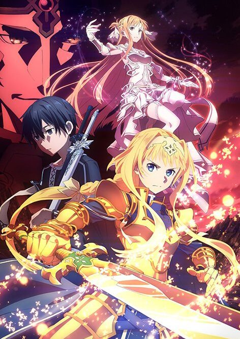 parte tres temporada de sword art online com os personagens