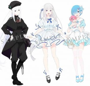 design de personagens re zero