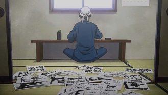 Nomes de animes - Homem escrevendo kanji, textos tradicionais japoneses