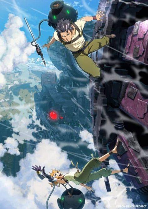 personagens do anime deca-dence que estreia em julho 2020