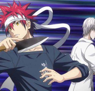 shouma e Eishi batalhando na cozinha